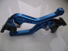 Buell CYCLONE (97-02), CNC levers short blue/chrome adjusters, F14/B55